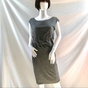 Athleta Heather Grey Dropped Waist Jersey Dress